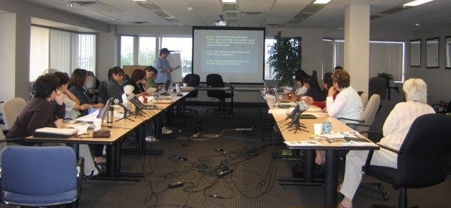 Members of the ACYRN Network communities' research teams during a training session in Edmonton